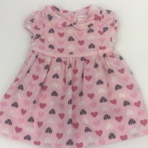 Gymboree Valentines Hearts Pink Baby Dress 3-6m